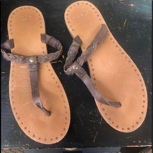 Ugg braided flip flop
